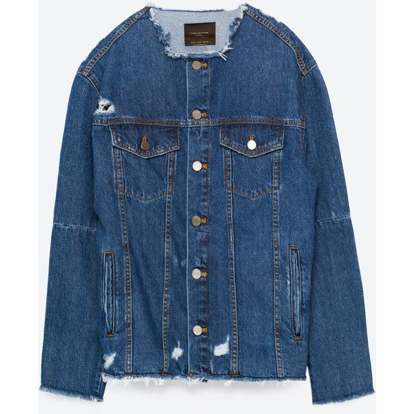 Denim Jacket With Patch At The Back View All Outerwear Woman