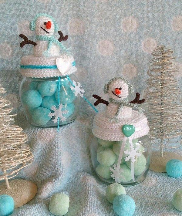 Häkelanleitung Mr Snowman Deckelbezug Für Marmeladenglas