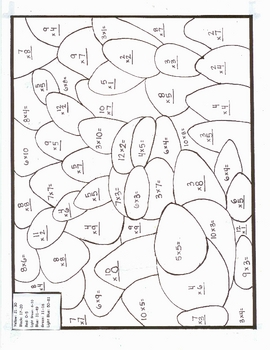 Color By Product Multiplication Color By Number Cool Spring Bunny Multiplication Worksheets Math Worksheets Multiplication