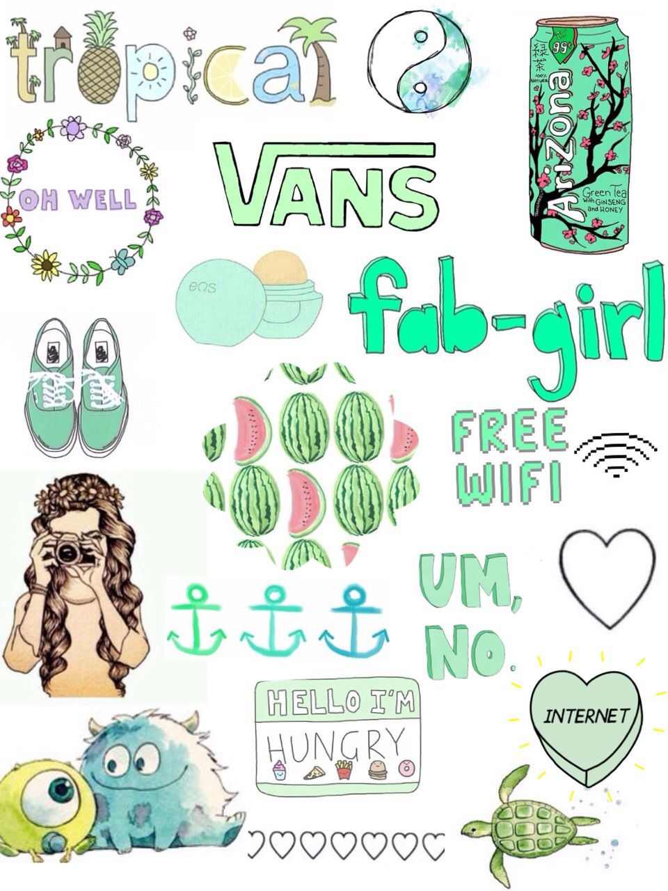 For Youtaggedme With Images Aesthetic Stickers Print