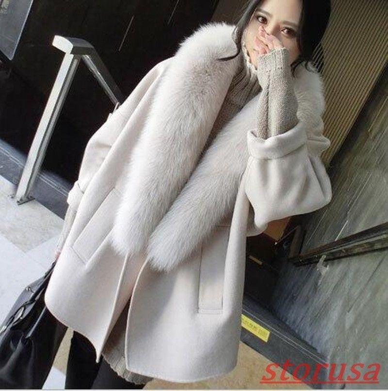 US NEW Women Warm Hooded Blend Long Cape Cloak Jacket Costume Poncho Coat