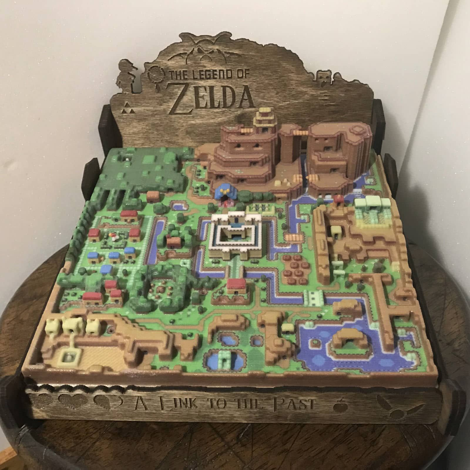 Gaming Art Taken To The Next Level A Link To The Past 3d Map Of Hyrule Zelda Map Video Game Decor Legend Of Zelda