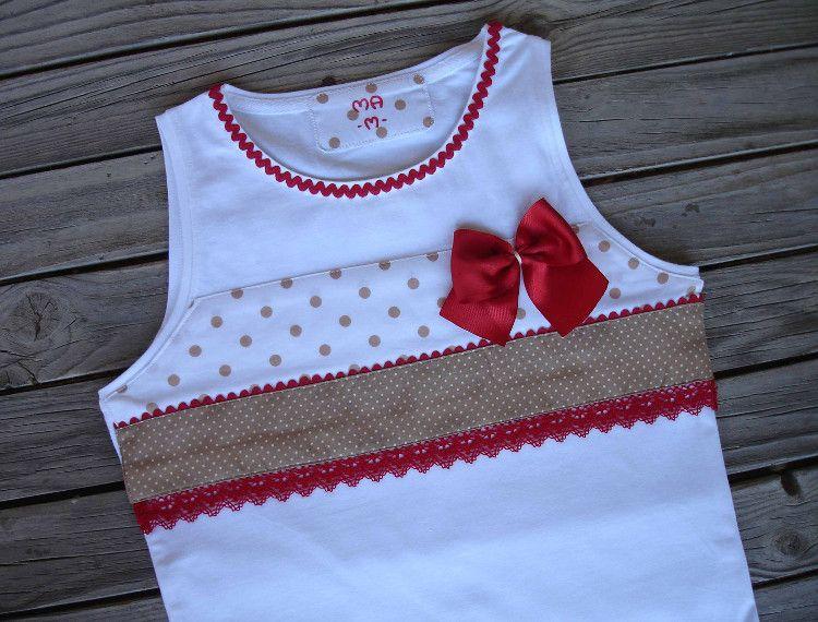 Camiseta vanessa 4 2 franelas decoradas para ni as pinterest camisetas franela y costura - Decorar camisetas basicas ...
