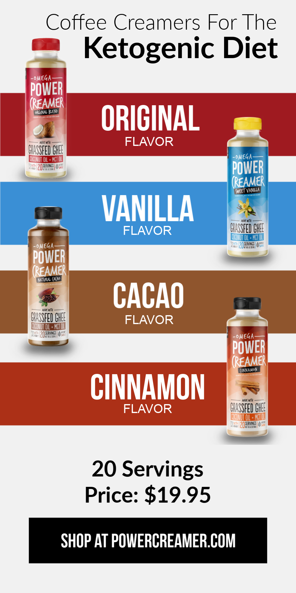 Omega PowerCreamer makes an easy Keto Coffee! Just add 1