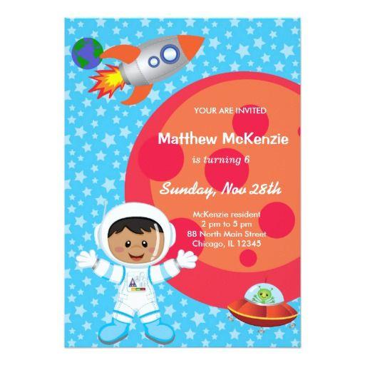 Astronaut boy Birthday theme Card Boy birthday