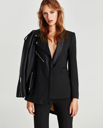 veste de smoking blazers femme zara france things i like pinterest vestes de smoking. Black Bedroom Furniture Sets. Home Design Ideas