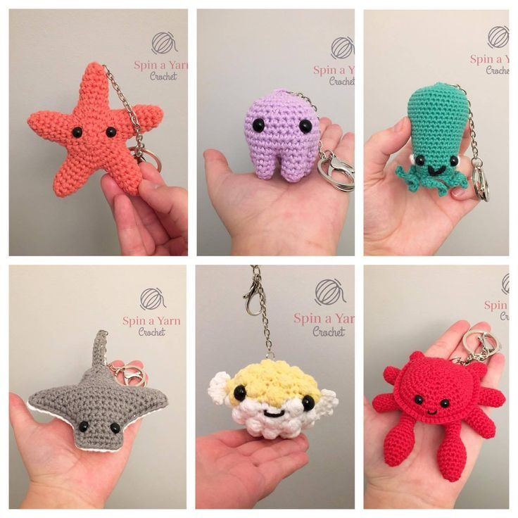 The free crochet patterns for these amigurumi sea ...