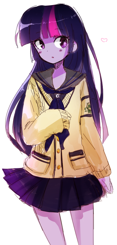 Twilight Sparkle in her japanese school uniform.