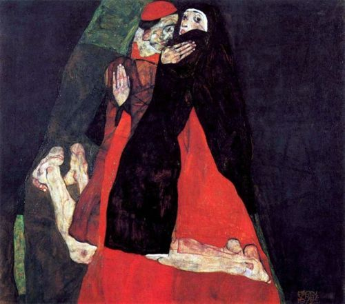 Egon Schiele, Cardinal and Nun, 1912