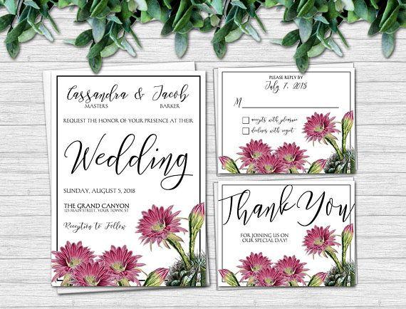 Cactus Wedding Invitation Suite Fl Invitations Design Collection Flower This Beautiful