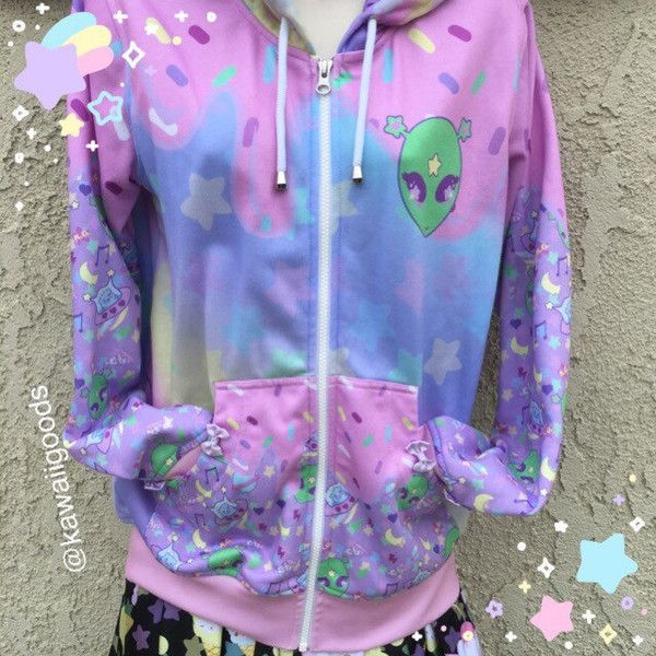 Reba the alien Sweater, Kawaii Sweater, Pastel Sweater, Pastel Aliens, Kawaii Aliens