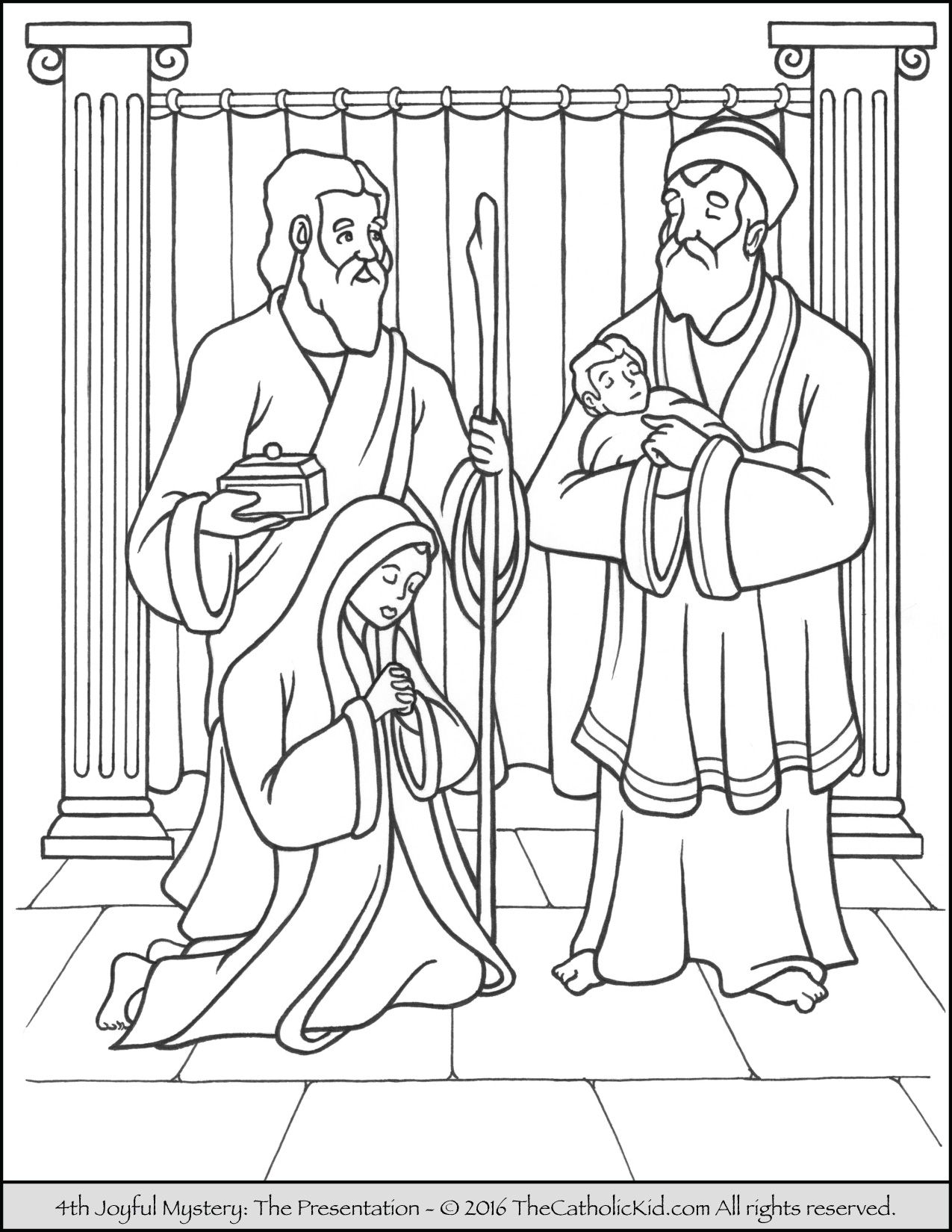The 4th Joyful Mystery Coloring Page