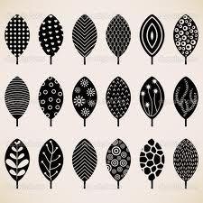 pattern leaves black