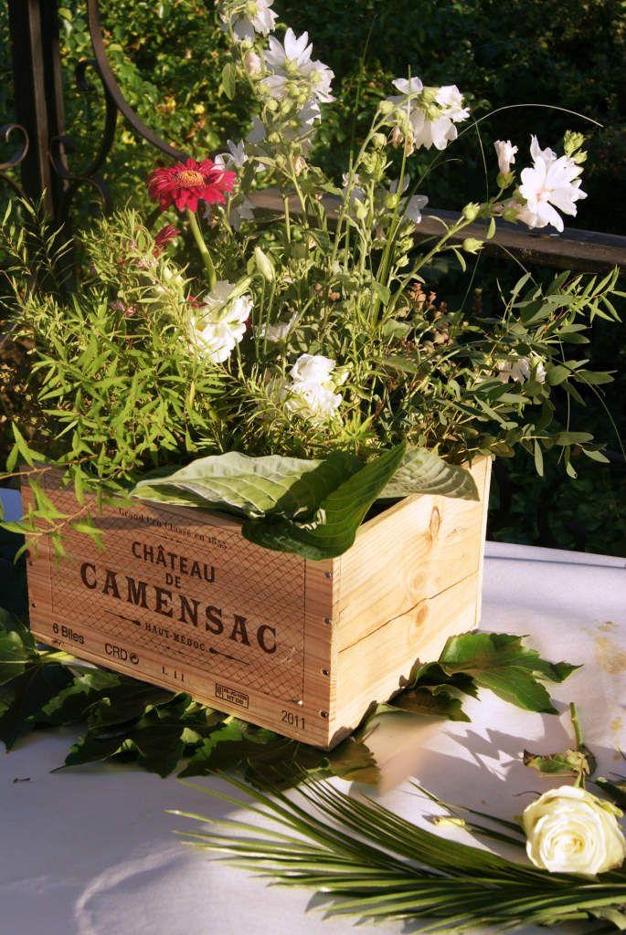 Decoration De Mariage Avec Des Caisses De Vin Deco Guinguette