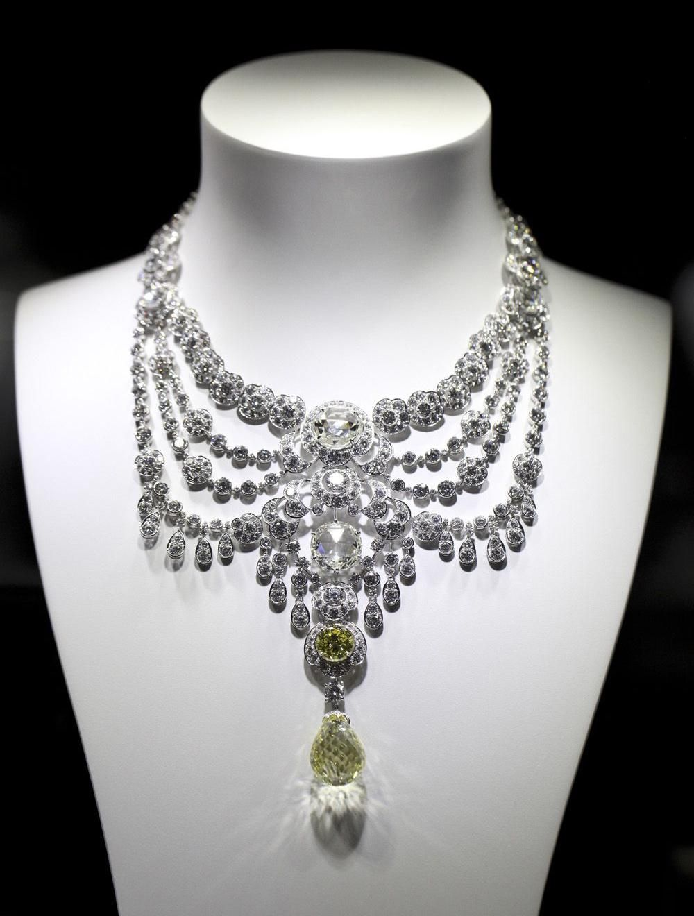Buy Diamond yellow necklace cartier picture trends
