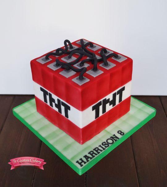 Minecraft Tnt Block Con Imagenes Tortas Minecraf Fiesta