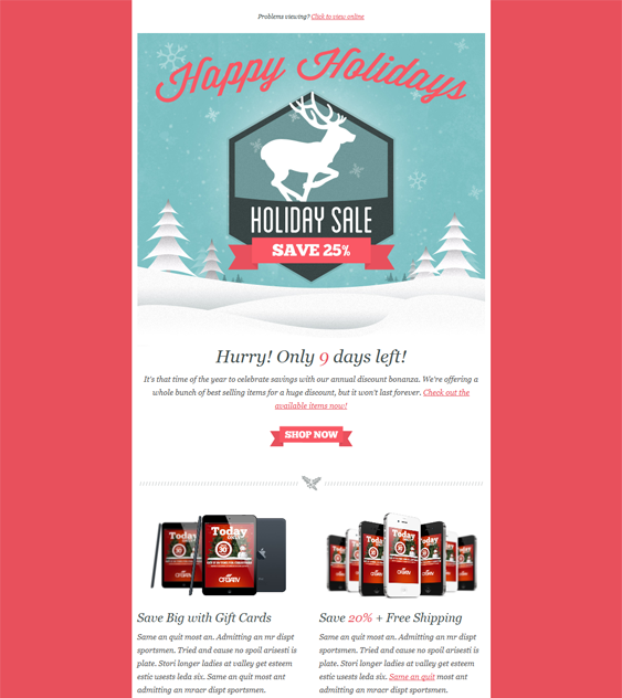 Holiday  More Christmas Holiday Email Template   Web Ui