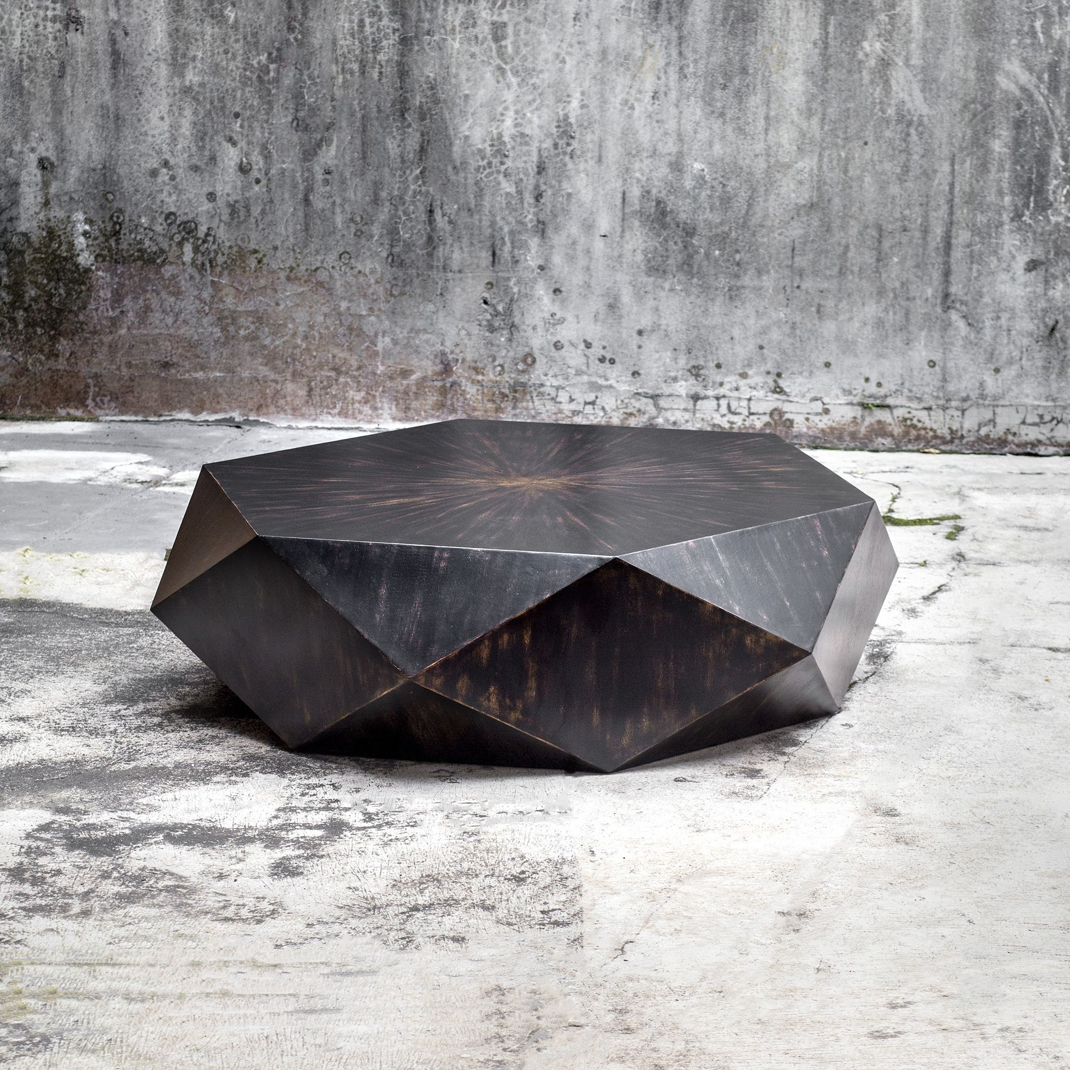 Faceted Large Round Wood Coffee Table Modern Geometric Block Solid Read More Reviews Of Th Round Wood Coffee Table Geometric Coffee Table Coffee Table Wood [ 2100 x 2100 Pixel ]