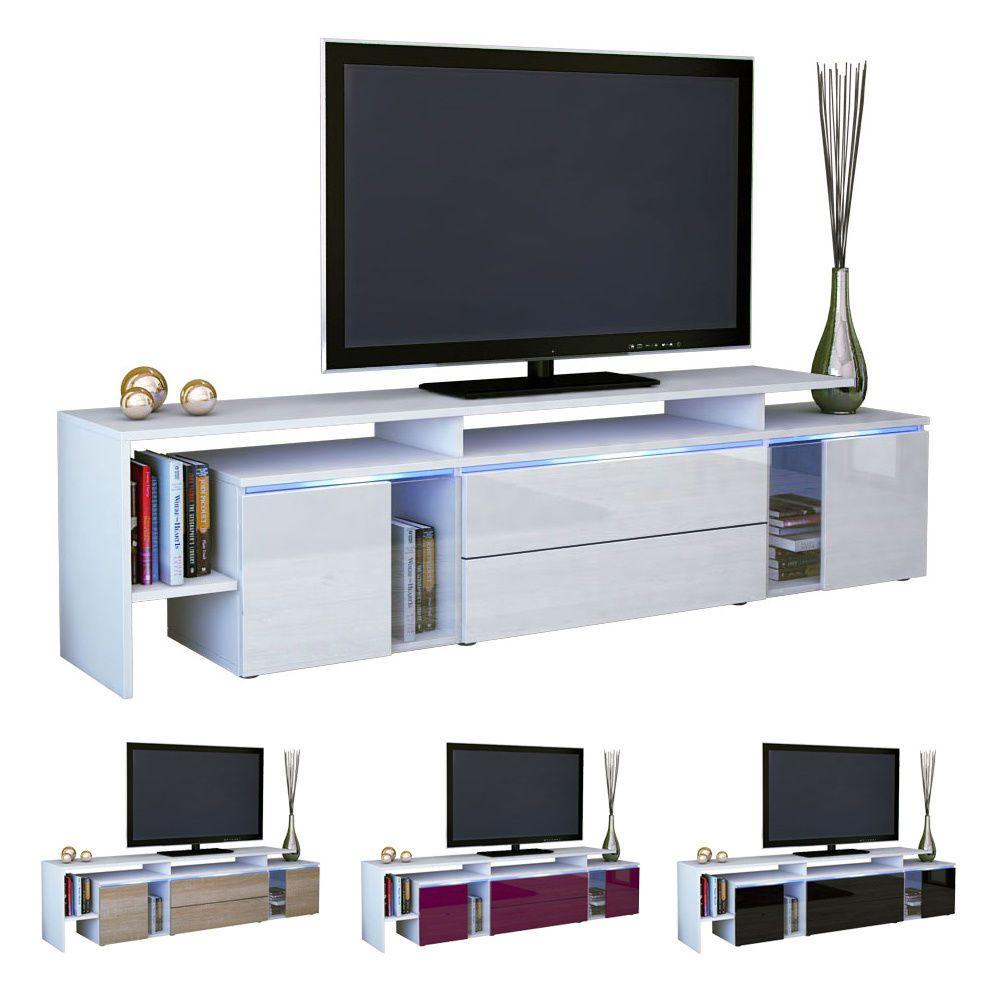 New White High Gloss Tv Stand Media Entertainment Centre Lima Nova  # Meuble Tv Lima