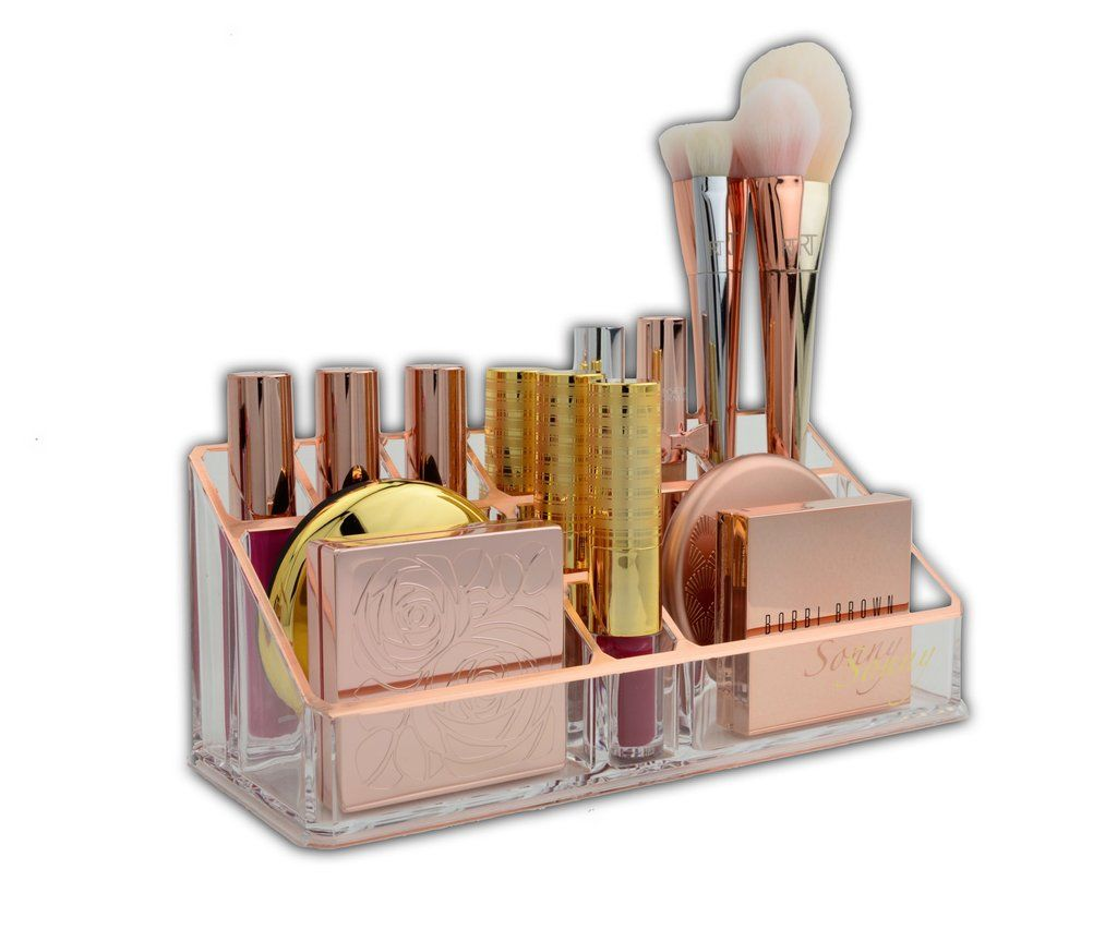 Makeup of the day tray vanity desk trays and vanities