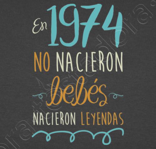 Camiseta 1974 45 Años Feliz Cumpleaños Papa Tarjeta De
