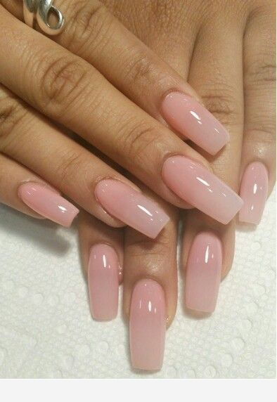 Long Nails With A Pink Tone In 2020 With Images Natural Acrylic Nails Natural Looking Acrylic Nails Cute Nails