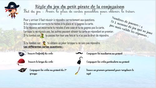 Jeu De Conjugaison Jeu Du Pirate Jeu Conjugaison Conjugaison Grammaire