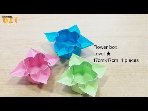 Origami flower box level diy show youtube paper origami flower box level diy show youtube mightylinksfo