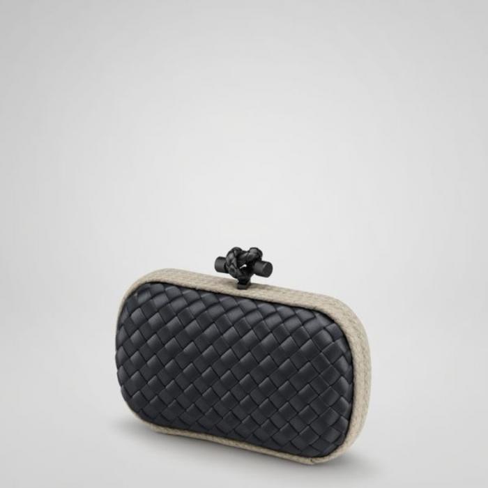 Bottega Veneta bags and Bottega Veneta handbags Bottega Veneta Nero Intrecciato Impero Linen Knot $344