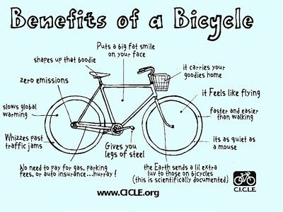 Benefits Of A Bicycle Via Treehugger Improve Yourself Bike