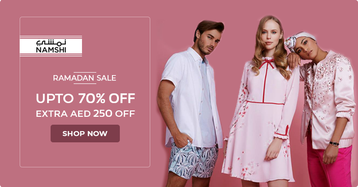 Ramadan Kareem Upto 70 Off Aed 250 Discount On Men Women Kids Fashion Namshidotcom Fashion Jewellery Namshib Promo Codes Online Kids Fashion Coupons