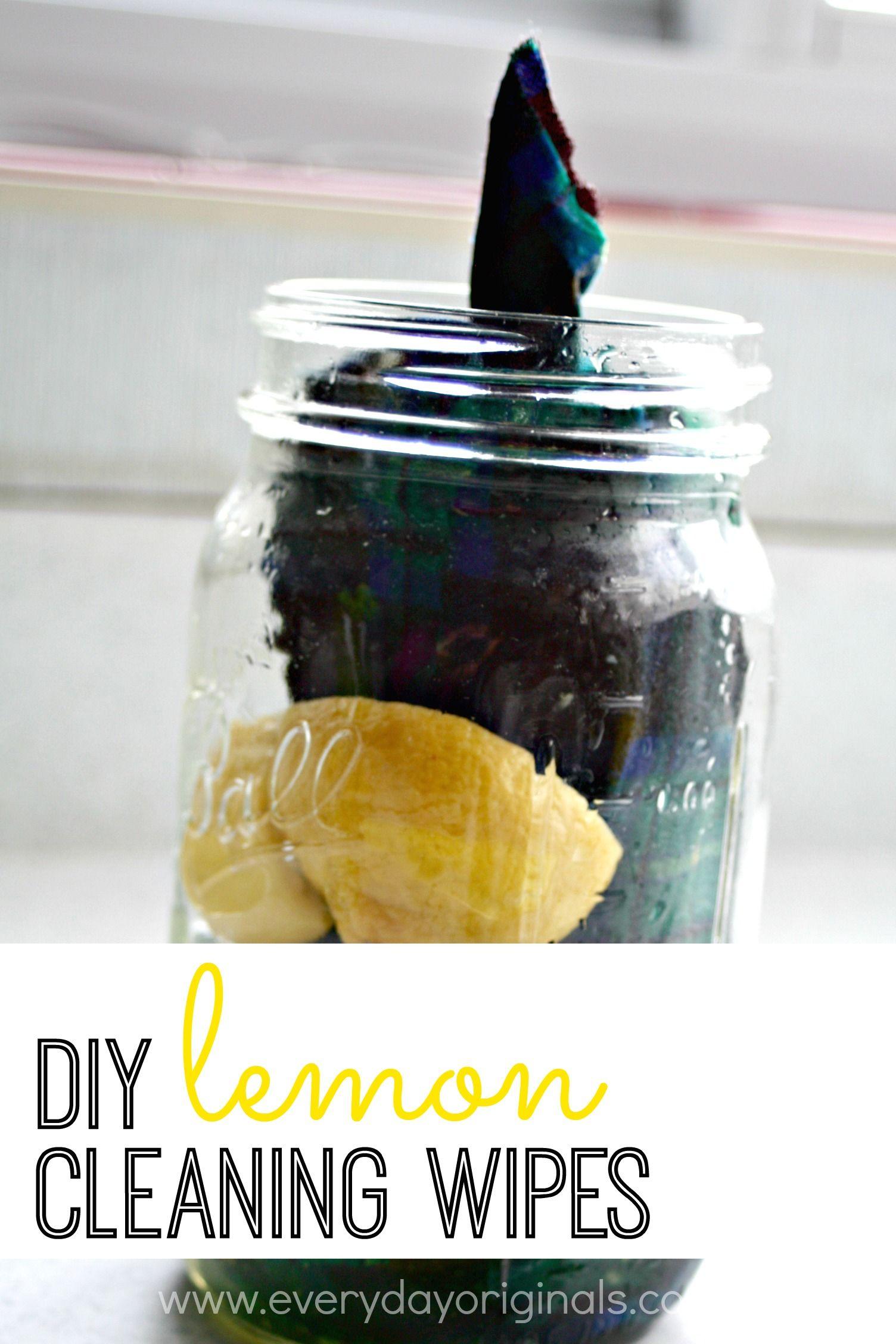 DIY lemon cleaning wipes Lemon cleaning