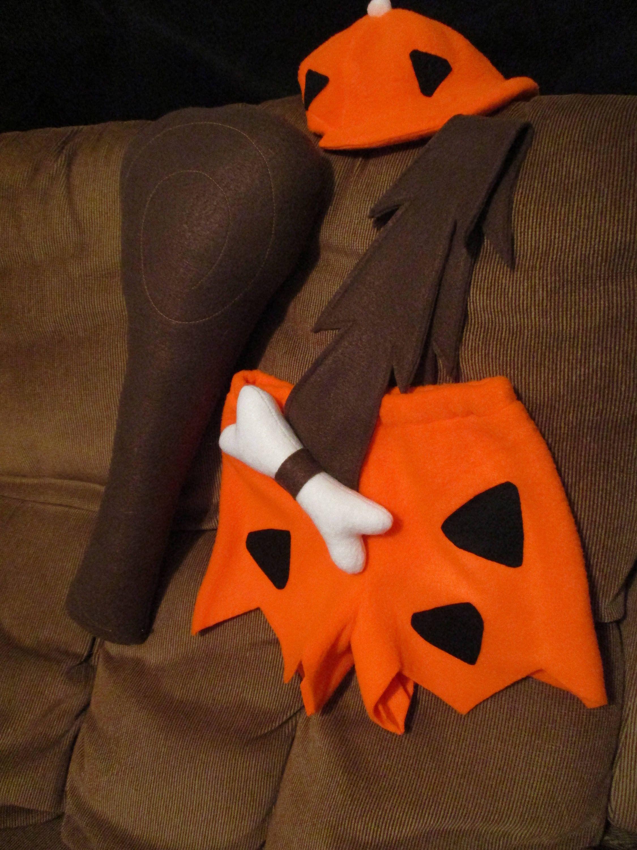 Bam Bam (Bamm Bamm) Rubble Flintstone costume -W/ club & hat -New -for Halloween, Smash Cake #pebblescostume