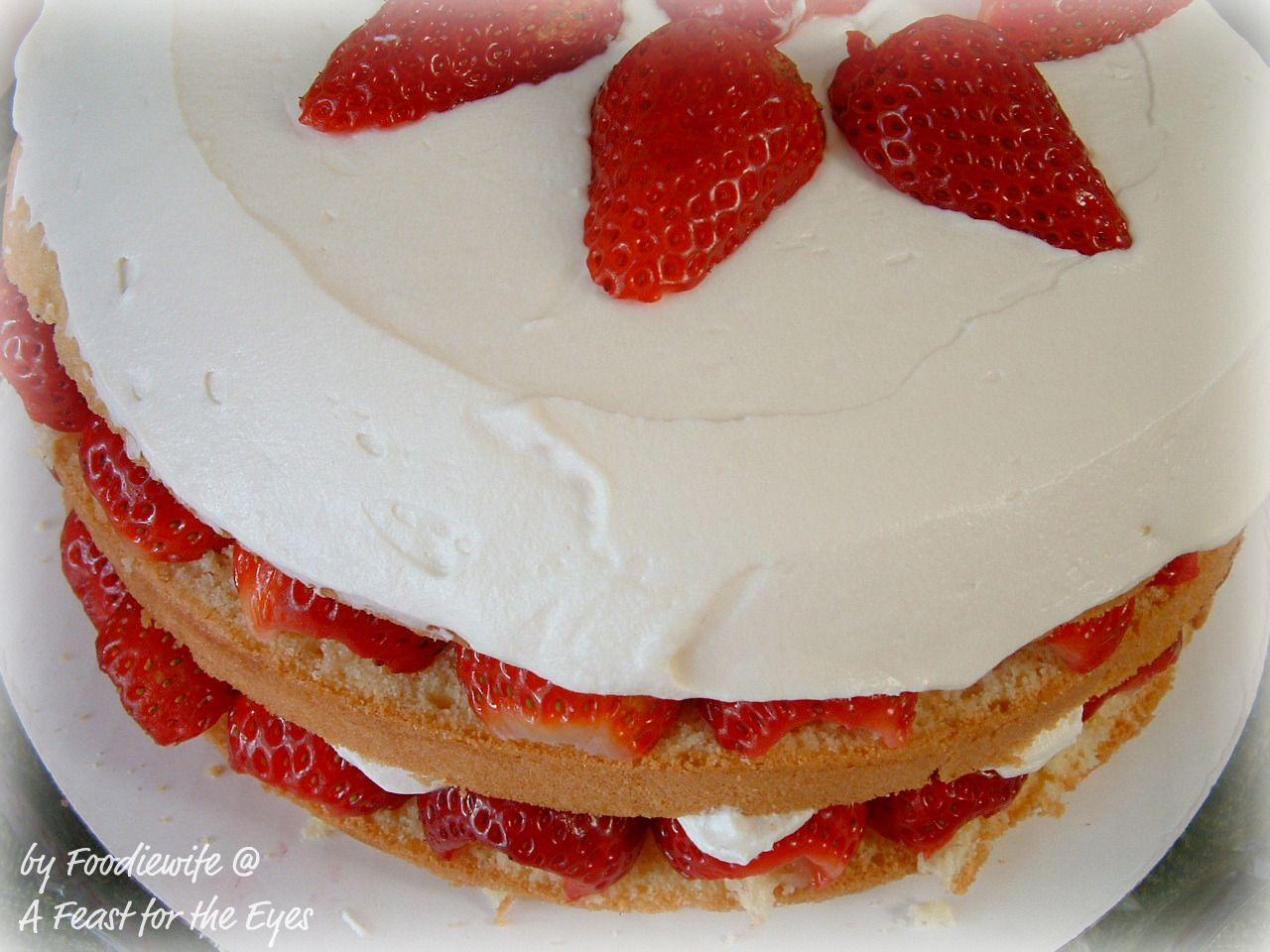Beautiful, Creamy Strawberry Cream Cake, from America\'s Test Kitchen ...