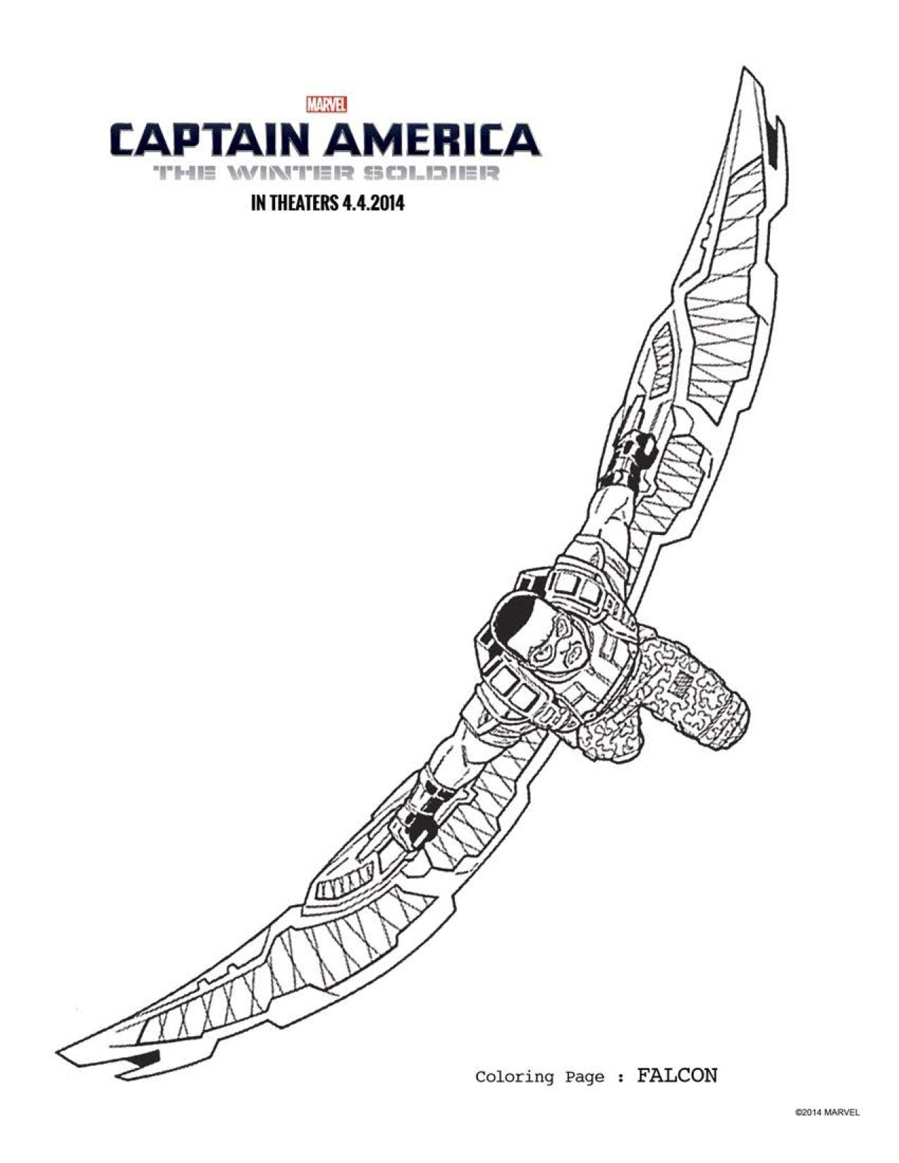 5 captain america the winter soldier coloring sheets to keep