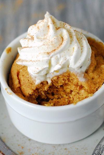 This Microwave Pumpkin Mug Cake recipe only takes 60 ...