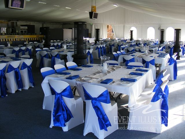 Royal Blue And White bridal party | ... Hire Event Illusions Bridal Expo Highfields Parties: Corporate Events