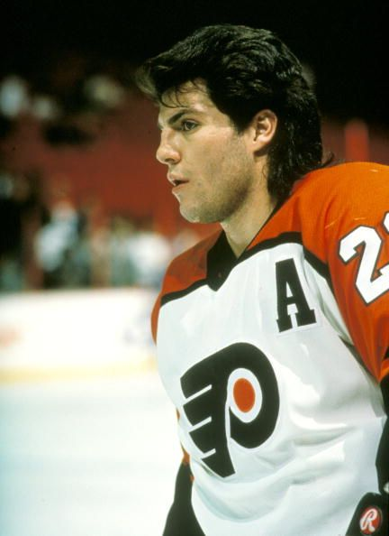efa0c4134 Player Rick Tocchet of the Philadelphia Flyers. | hockey | Pinterest ...