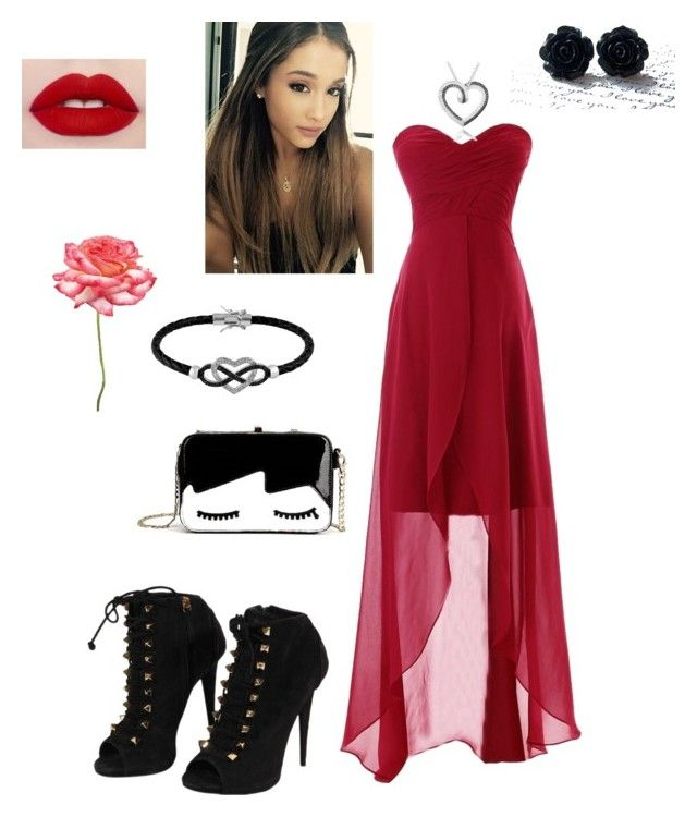"""""""Elegant Valentine"""" by lilangelrere ❤ liked on Polyvore featuring DB Designs, Jewel Exclusive, Giuseppe Zanotti and Universal Lighting and Decor"""