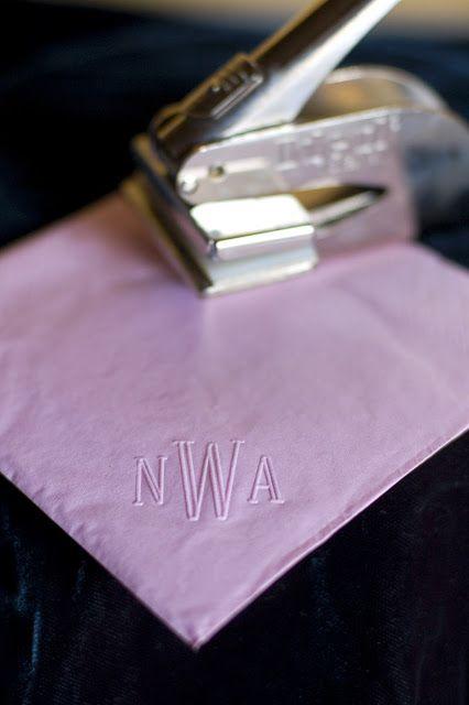 inexpensive diy personalized napkins wedding inspiration