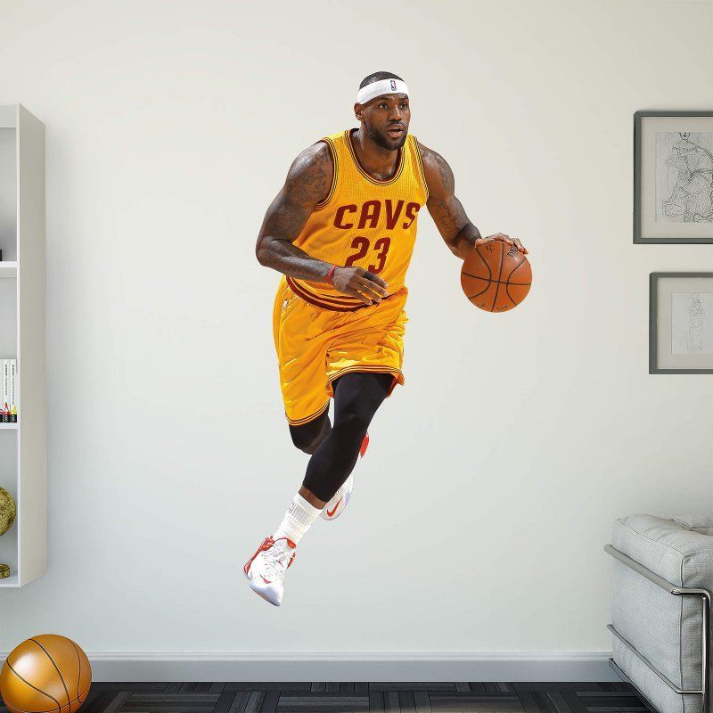 Fathead NBA Cleveland Cavaliers LeBron James Gold Jersey Wall Decal ...