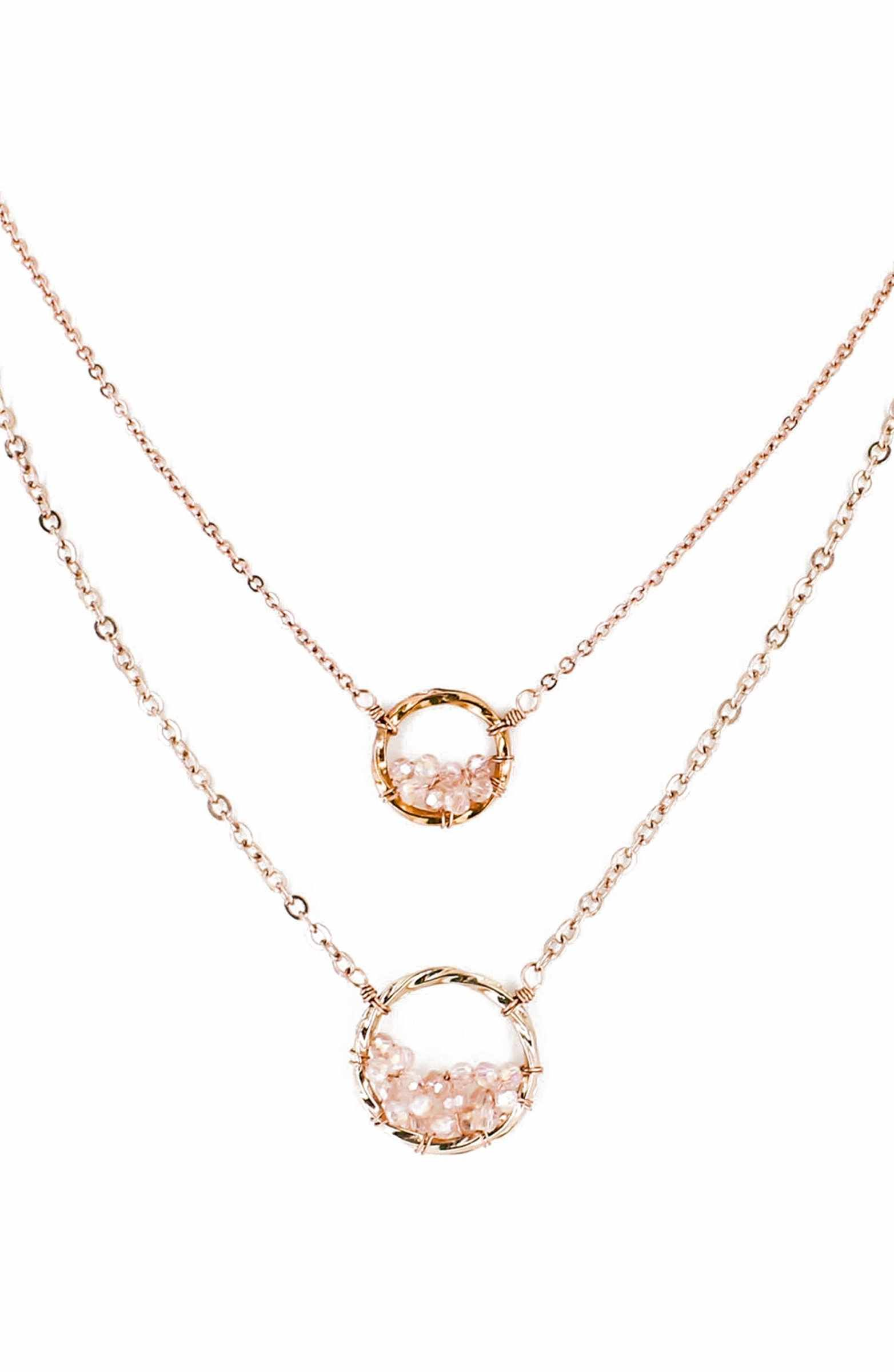 15671a4d977e7 Main Image - Panacea Crystal Circle Double Chain Necklace | My ...