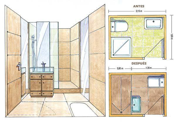 Pin de nufel en redecora tu ba o ba os duchas y cabinas for Cabinas de ducha medidas