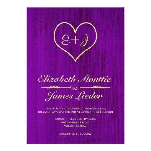 ReviewPurple & Gold Country Wedding Invitations Personalized Announcementwe are given they also recommend where is the best to buy
