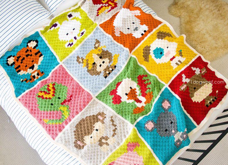 Zoodiacs C2C Crochet Afghan