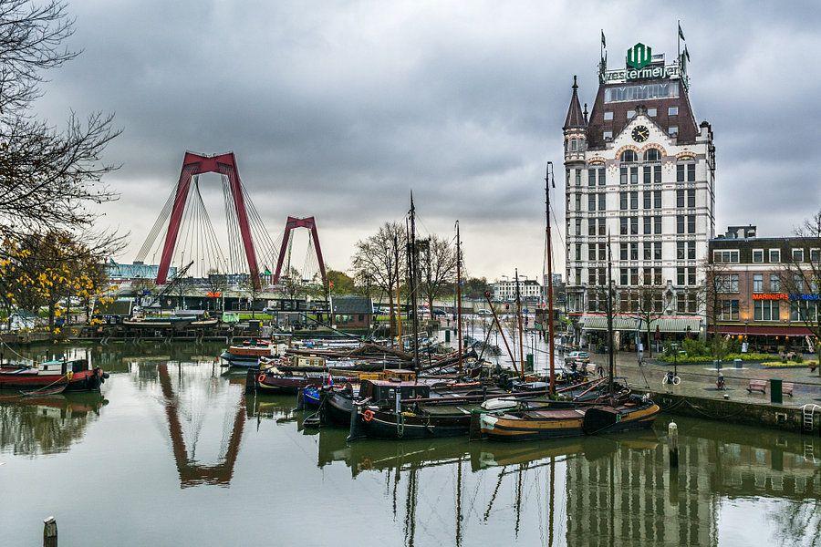 Oude Haven Rotterdam Van Arthur Wolff Op Canvas Behang En