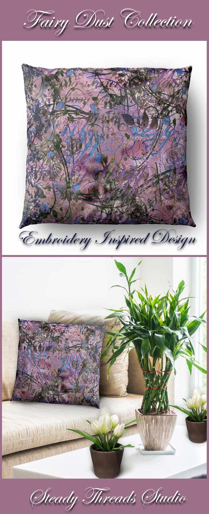 Pink u blue abstract pillow pink blue pillows and studio
