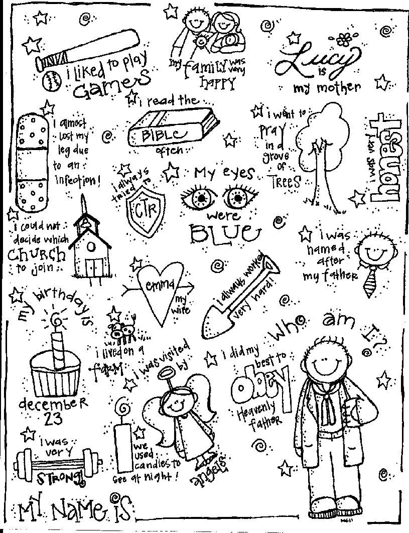 primary activities primary lessons church activities lds primary lds church church ideas primary chorister church history coloring pages
