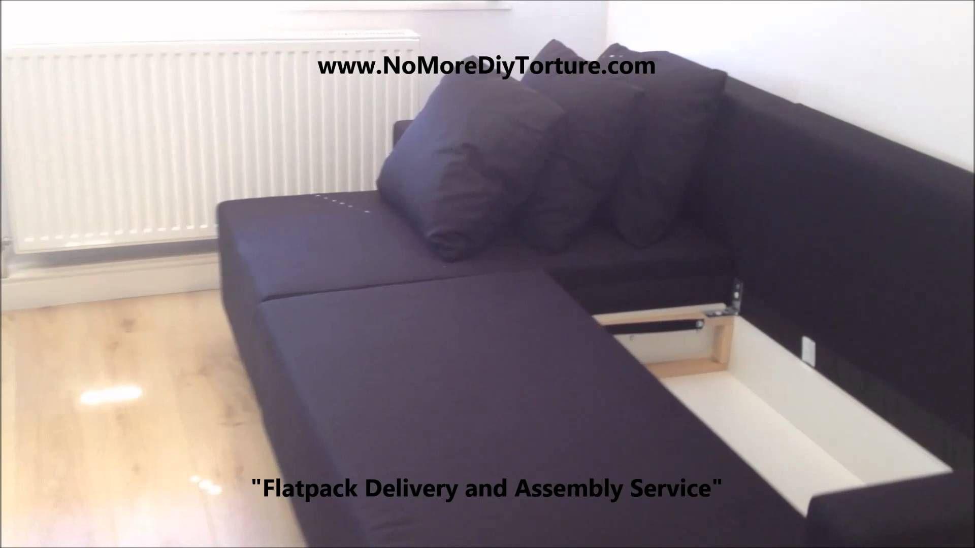 Ikea Lugnvik Corner Sofa Bed With Storage With Images Corner