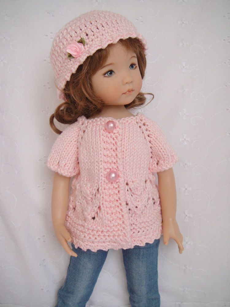 Handknitted sweater & hat for LITTLE DARLING doll - 13 inches ...